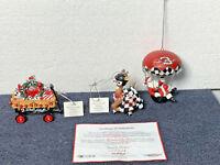 Dale Earnhardt #3 - 3 Hamilton Christmas Ornaments 2001 - Set 3 of 7 HandPainted