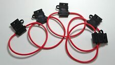 5 pcs Scosche 16 ga ATC Heavy Duty Fuse Holder 12 Volt Automotive Copper wire