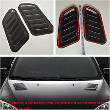 2x Universal Black Car Decorative Air Flow Intake Scoop Vent Cover Hood Fenders