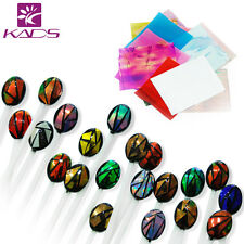 21 Sheets Mylar Shattered Glass Cellophane Broken Glass Foil Decal for Nail Art