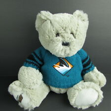 "San Jose Sharks Teddy Bear 10"" Bean Bag Plush Creations With Shark Sweater 2007"