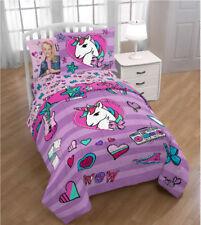 JoJo Siwa Girls Twin Comforter, Sheets & Bonus Sham, 5 Piece Bed In A Bag, New!