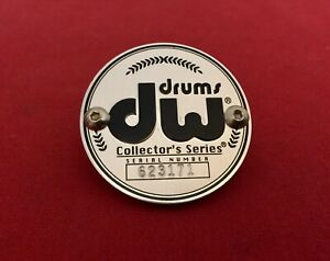 DW Collector's Black & Silver Badge Bass Tom Snare Drum Serial #, 5th Generation
