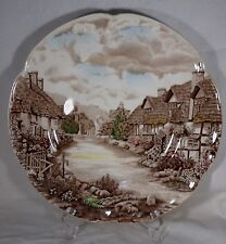 """Johnson Brothers Plate Old English Countryside Browns Greens Yellows 10"""" Pretty"""