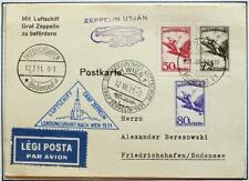 HUNGARY to GERMANY to AUSTRIA 1931 ZEPPELIN, Österreichfahrt/Flight Card ,Nutley