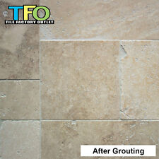 Only $25/m2! Budget Mixed Tumbled Travertine French Pattern Tile 12mm (#8545)