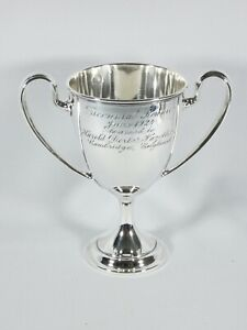 Antique Art Deco 1924 Towle Sterling Silver Twin Handled Trophy Cup Chalice 331g