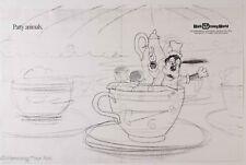 Walt Disney World Original Illustrator Artist Proof Print Tea Cups Goofy 3/5