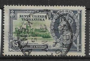KENYA, UGANDA & TANGANYIKA SG126 1935 SILVER JUBILEE 65c USED