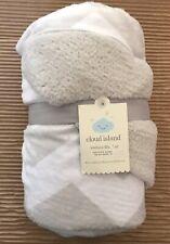 NWT Cloud Island Velboa Blanket Chevron Grey White