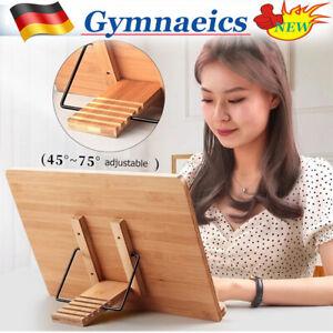Leseständer Bambus Bücherstand Bücherständerhalter Buchstützen Tablet-Ständer