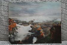 antique vtg old Fred Harvey print Grand Canyon sky cloud cliff nature landscape