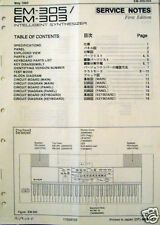 Roland EM-305 EM-303 Keyboard Synthesizer Workstation Original Service Manual