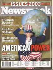 NEWSWEEK SPECIAL EDITION ISSUES 2003 - DEC.2002-FEB.2003 - AMERICAN POWER