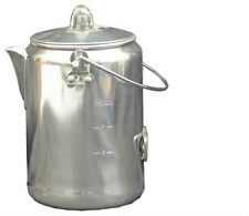Campfire Coffee Pot Camping Hiking Coffee Percolator 9-Cup Aluminum Pot
