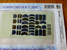 Microscale Decal N  #60-440 Anti-Glare Panels-Diesel - Nose - Dark Blue & Black