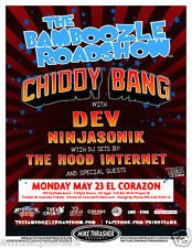 BAMBOOZLE  ROADSHOW 2011 SEATTLE CONCERT TOUR POSTER-CHIDDY BANG, DEV NINJASONIK