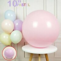 """Pack of 10-100 Pastel Latex Balloons Macaron Candy Many Color Party 10"""" Balloons"""