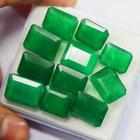 Natural 160 Ct/11 Pcs Colombian Green Emerald Certified Loose Gemstone Lot  vk65