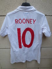 Maillot ANGLETERRE ENGLAND football shirt ROONEY retro vintage UMBRO femme 10 38