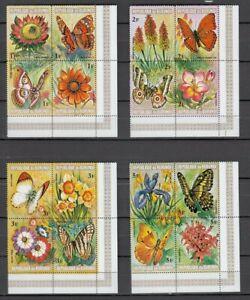 Burundi, 1973 Butterflies And Flowers 963-1010, IN 12 4er Blocks, (27913)