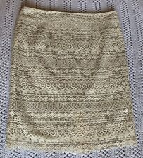 M&S Skirt. Ivory. Cream. Lace. Size 18.