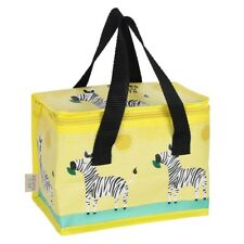 Ziggy Zebra Insulated Lunch Bag, Kids Bright Cooler Bag, Children School Bag