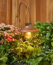 Set 3 Marine-Style Bronze Solar Lantern Garden Pathway Light w/ Shepherds Hook
