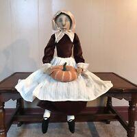Gathered Traditions Prudence Pilgrim Girl Pumpkin NWT Joe Spencer Thanksgiving