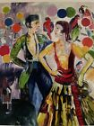 """Hunt Slonem """"Tango Valentino"""" Lithograph Numbered And Signed"""
