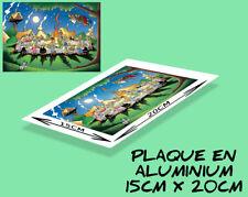 plaque murale ou porte aluminium (15x20cm) ASTÉRIX et OBELIX