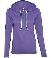 Gildan Ladies Fitted Long Sleeve Hooded T  Extra Large