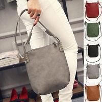 EG_ HK- Women's Faux Leather Satchel Crossbody Shoulder Bags Handbag Tote Bag Pe