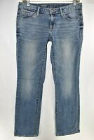 Mossimo Denim Womens Mid Rise Bootcut Boot Cut Jeans Size 4R Blue Meas. 30x32