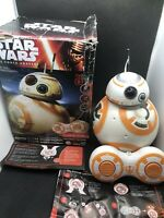 Star Wars The Force Awakens Remote Control BB-8 Disney w/ Box And Manuals TESTED