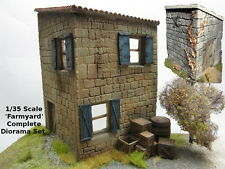 1/35 Scale 'Farmyard' Complete Diorama Set - 2 building + lots of wooden crates