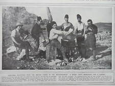 1916 BRITISH SOLDIERS REHEARSING A CHRISTMAS CONCERT IN  MEDITERRANEAN WWI WW1