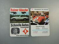 Autoquartett Rainer Günzler Schnelle Autos 1969 (57325)