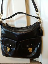 Coach Black Liquid Gloss Patent Leather Handbag
