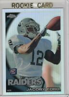 2010 TOPPS FOOTBALL REFRACTOR ROOKIE CARD # C148 - JACOBY FORD - OAKLAND RAIDERS
