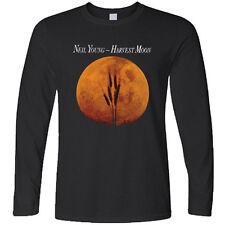 Neil Young Crazy Horse Harvest Moon Legend Long Sleeve Black T-Shirt Size S-3XL