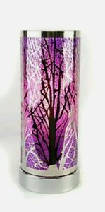 Touch Sensitive Aroma Oil Burner Wax Melt Warmer Lamp Purple And Silver Tree