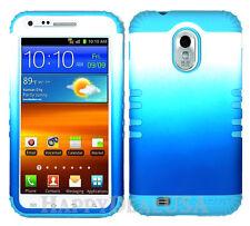 KoolKase Hybrid Cover Case for Samsung Galaxy S2 D710 R760 - White/Blue