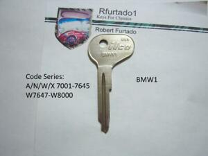 Key Blank for BMW 1502 - 1600 - 1602 - 1800 - 1802 - 2000 -2002 Ign./door (BMW1)