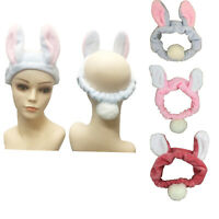 3Pack Women Bunny ear tail Headband for Wash Face Makeup Head Wrap Hair Band