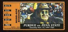 College Football Ticket Purdue 1997 11/15 Penn State Drew Brees