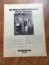 1966 Occidental Life of CA Ad GI Term Insurance