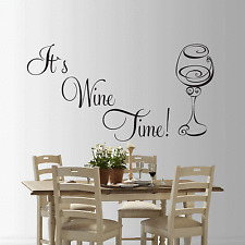 it`s wine time  Wall sticker Art Decal Sticker wine time quote living room sml