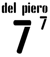Italy Del Piero Nameset 2008 Shirt Soccer Number Letter Heat Print Football Away