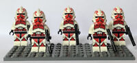 lego star wars clone trooper minifigures lot Of 5.